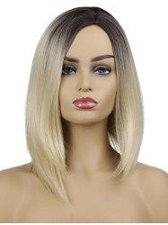 Medium Side Parting Gradient Straight Synthetic Wig -