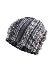 Striped Pattern Sports Scarf Hat -