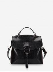 Solid Crossbody Shoulder Bag -
