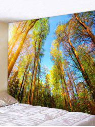 Sunshine Forest Trees Print Tapestry Wall Hanging Art Decoration -