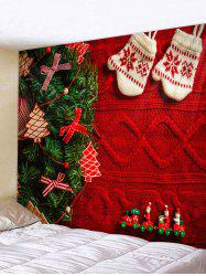 Christmas Tree Gloves Print Tapestry Wall Hanging Art Decoration -