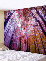 Maple Forest Mist Print Tapestry Wall Hanging Art Decoration -