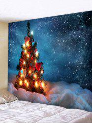 Christmas Tree Snowfield Print Tapestry Wall Hanging Art Decoration -