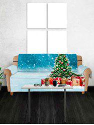 Christmas Tree and Gifts Pattern Couch Cover -