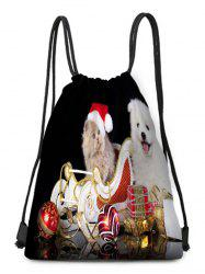 Christmas Hat Animals Theme Drawstring Backpack Candy Bag -