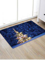 Christmas Tree Snowfield Pattern Water Absorption Area Rug -