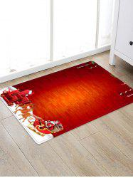 Christmas Sleigh Brick Wall Pattern Water Absorption Area Rug -