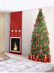 Christmas Tree and Gifts Print Tapestry Wall Hanging Art Decoration -