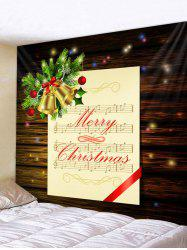 Christmas Music Score Bells Print Tapestry Wall Hanging Art Decoration -