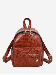 Snakeskin Embossed Mini Backpack -
