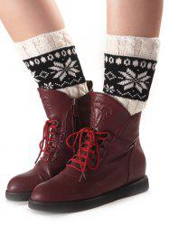 Christmas Geometric Pattern Sleeve Socks -