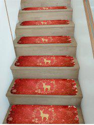 Christmas Elk Snowflake Pattern Stair Tread Rugs -