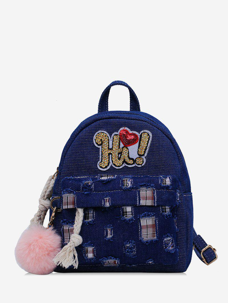 Best Fuzzy Ball Design Patchwork Backpack