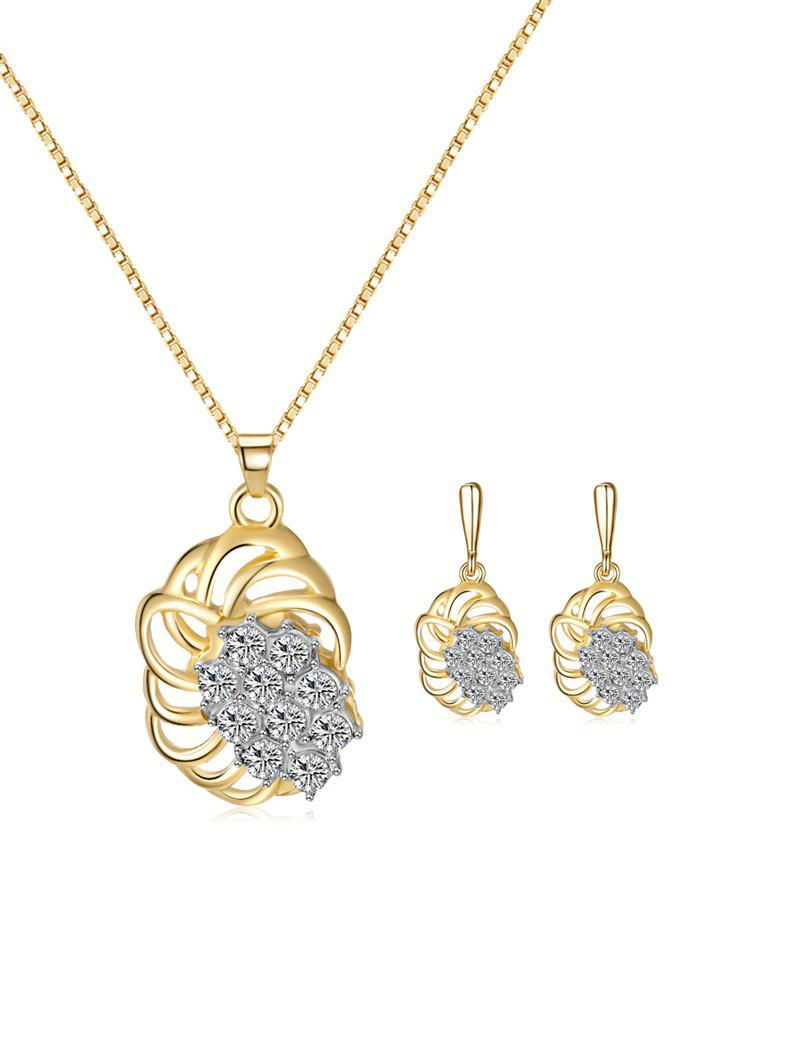 Discount Rhinestone Hollow Out Wedding Jewelry Set