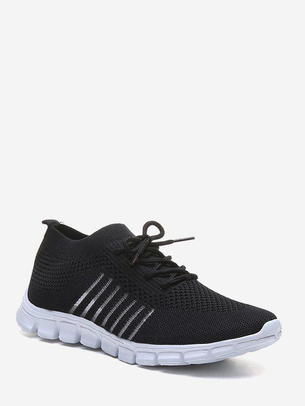New Sheer Striped Woven Mesh Running Shoes