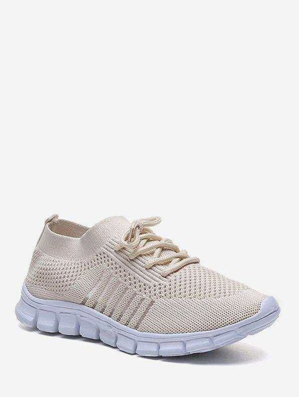 Affordable Sheer Striped Woven Mesh Running Shoes