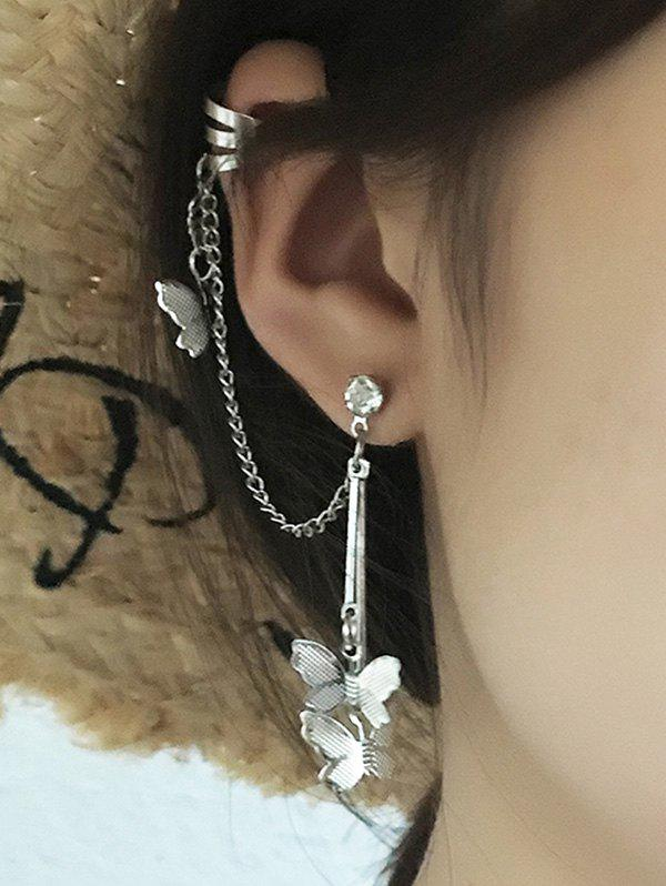 Shops Single Butterfly Chain Dangle Ear Cuff