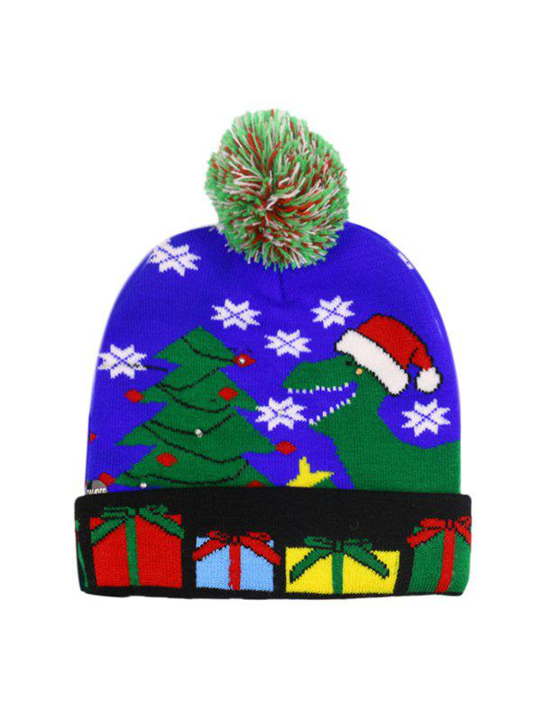 Unique Christmas Tree Snowman Elk Knitted Bobble Hat