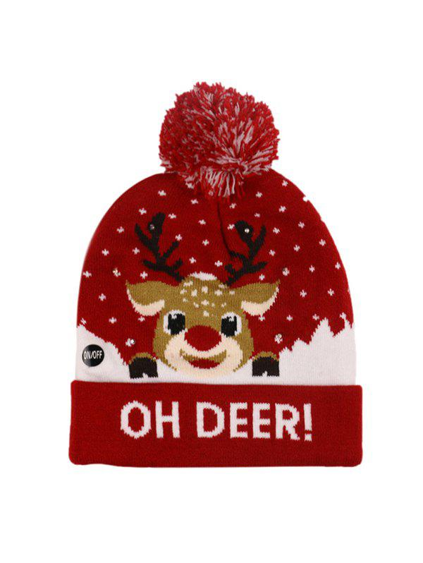 Chic Christmas Tree Snowman Elk Knitted Bobble Hat