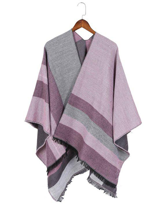 Hot Color Blocking Spliced Shawl