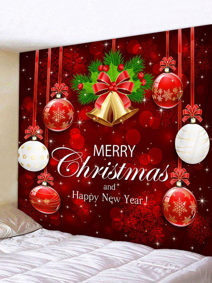 Affordable Christmas Snowflake Ball Letter Print Tapestry Wall Decor