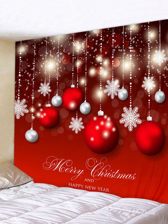 Shops Wall Art Christmas Ball Snowflakes Print Hanging Tapestry