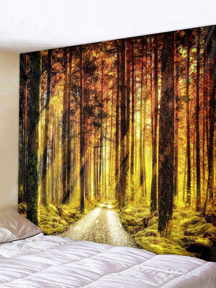 Sale Sunlight Forest Pathway Print Wall Art Tapestry