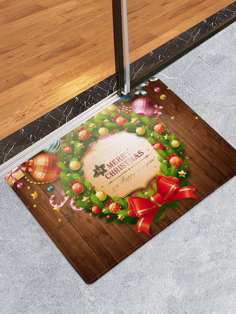 Outfit Christmas Garland Ball Print Antiskid Area Rug