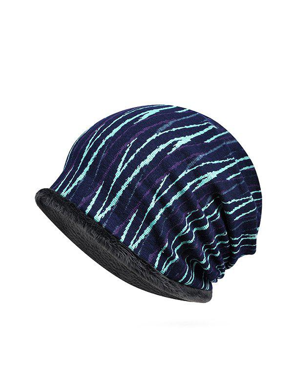 Latest Striped Pattern Soft Knitted Scarf Hat