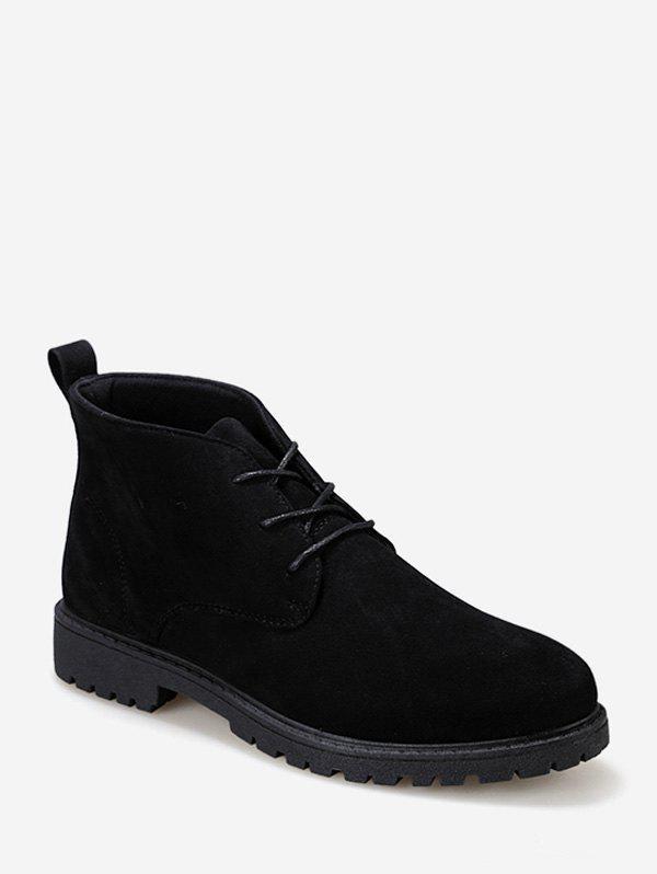 Sale Plain Faux Leather Ankle Boots
