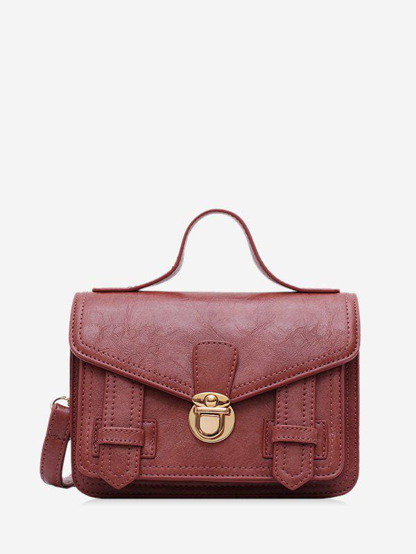 Hot Solid Embossed Buckle Crossbody Shoulder Bag
