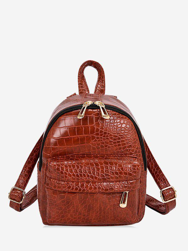 Best Snakeskin Embossed Mini Backpack