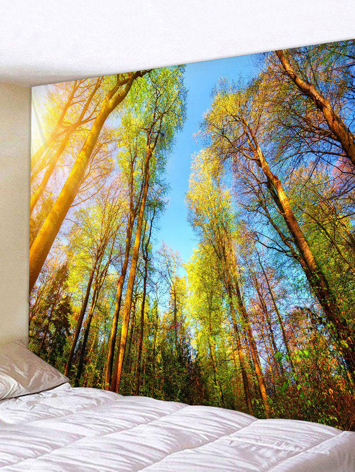 Affordable Sunshine Forest Trees Print Tapestry Wall Hanging Art Decoration