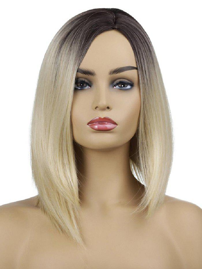 Fashion Medium Side Parting Gradient Straight Synthetic Wig