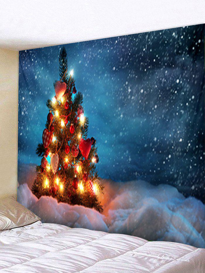 Chic Christmas Tree Snowfield Print Tapestry Wall Hanging Art Decoration