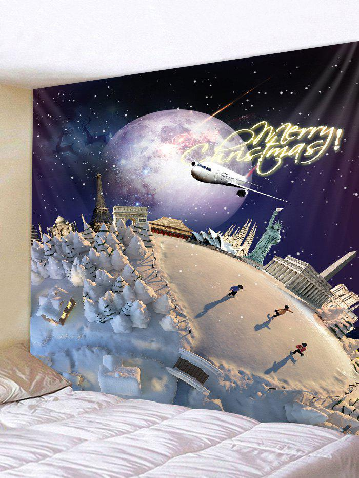 Store Christmas Snow Planet Print Tapestry Wall Hanging Art Decoration