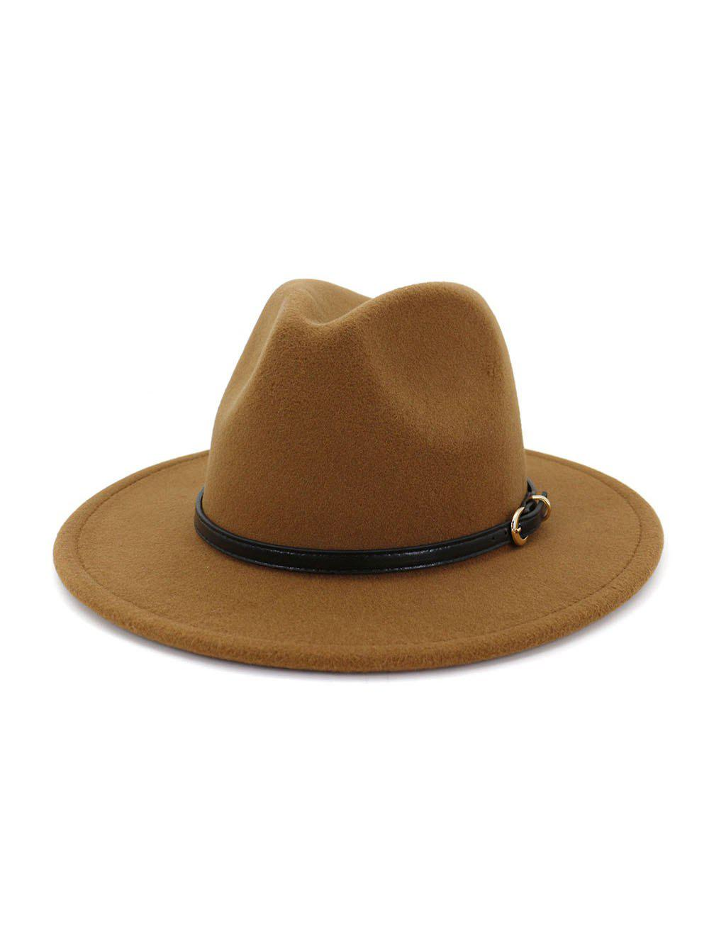 Cheap European Jazz Flat-brim Hat