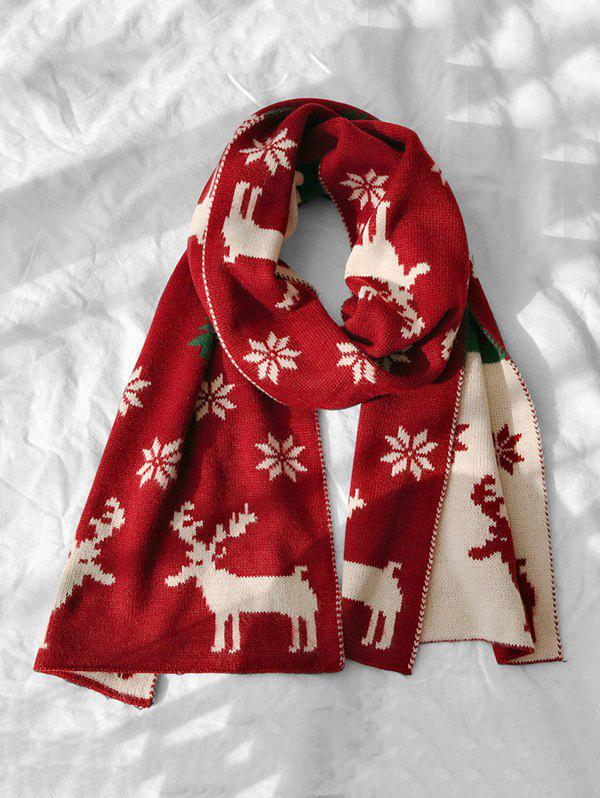 Sale Christmas Snowflake Elk Graphic Scarf