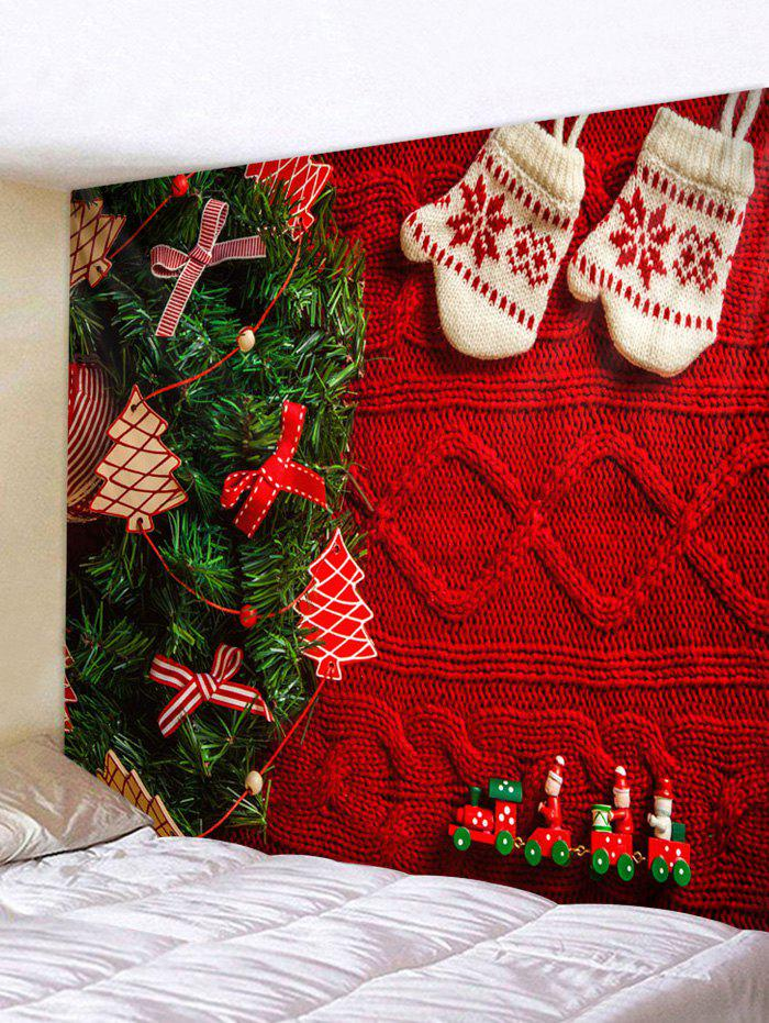 Affordable Christmas Tree Gloves Print Tapestry Wall Hanging Art Decoration
