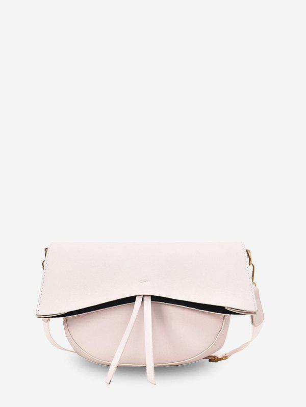 Outfit Solid Simple Cover Tassel Single Shoulder Crossbody Bag