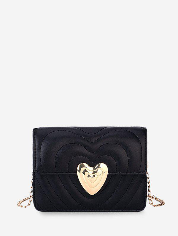 New Heart Buckle Quilted Chain Crossbody Bag