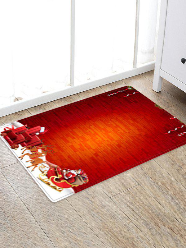 Best Christmas Sleigh Brick Wall Pattern Water Absorption Area Rug