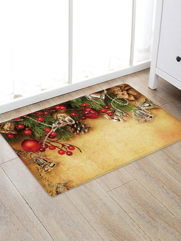 Hot Christmas Bells Branch Pattern Water Absorption Area Rug