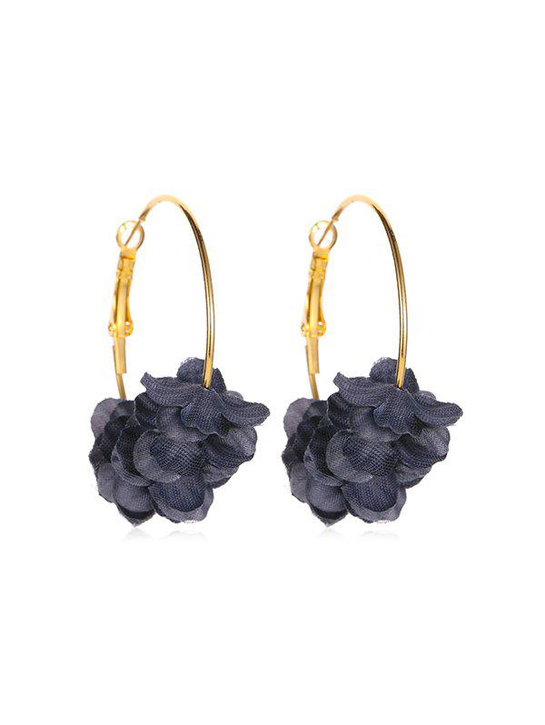 Affordable Sweet Layered Floral Hoop Earrings