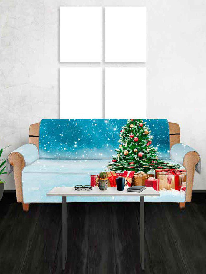 Sale Christmas Tree and Gifts Pattern Couch Cover