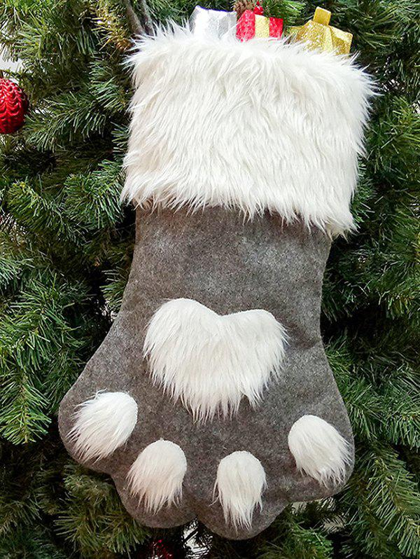 Cheap Dog Claw Faux Fur Christmas Stocking