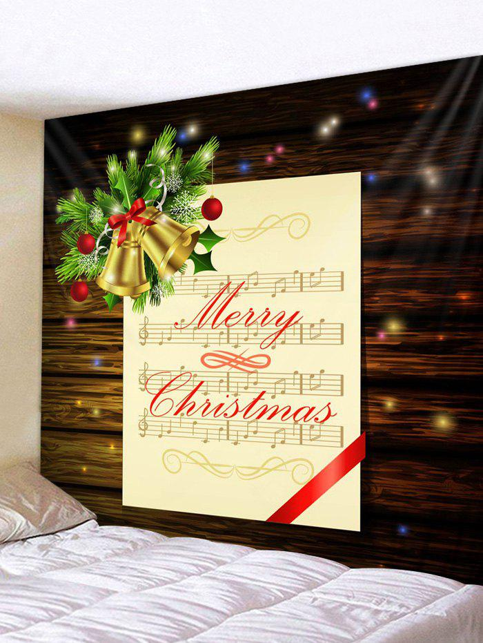 Unique Christmas Music Score Bells Print Tapestry Wall Hanging Art Decoration