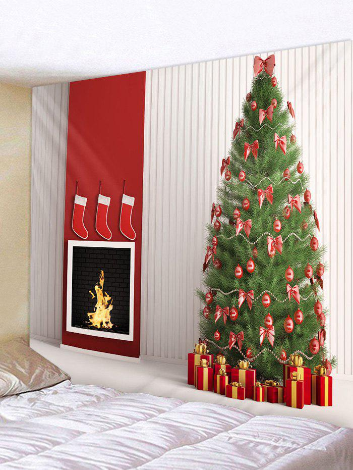 Sale Christmas Tree and Gifts Print Tapestry Wall Hanging Art Decoration