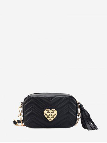 Heart Buckle Tassel Shoulder Bag