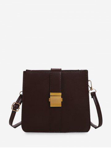 Square Cover Buckle Classic Shoulder Bag